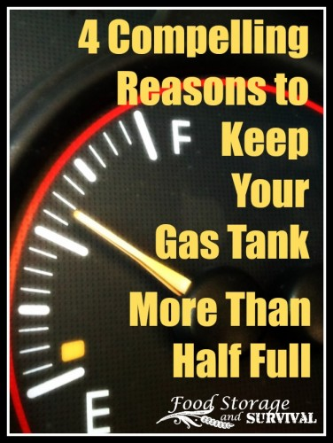 How much gas is in your tank? Here are 4 reasons to keep it more than half full!