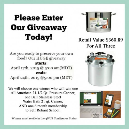 Super Spring Canning Giveaway!  Ends 4/24/15