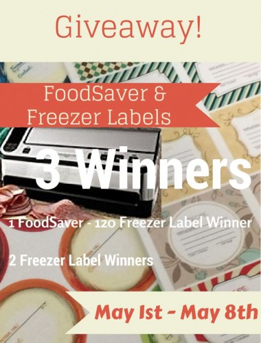 FoodSaver & Freezer Label Giveaway