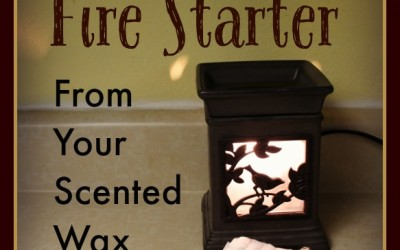 Don't Toss that Wax! Make an Instant Fire Starter from Your Scented Wax Melter