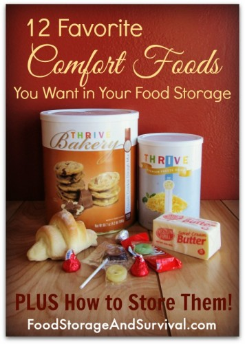 Why have boring food storage?  12 Favorite Comfort Foods You Want in Your Food Storage PLUS How to Store Them!