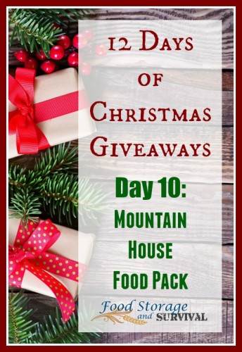 12 days of Christmas Giveaways Day 10: Mountain House 5 day food supply PLUS 12 Cheesecake Bites! Ends 12/12/15