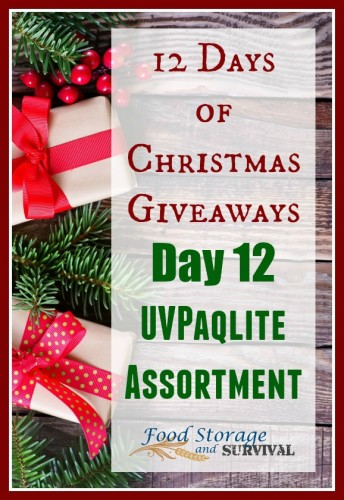 12 days of Christmas giveaways Day 12: UVPaqlite assortment! Ends 12/14/15