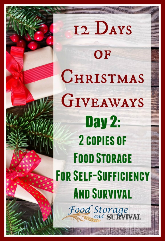 12 Days of Christmas Giveaways: Day 2–Autographed Food Storage Books