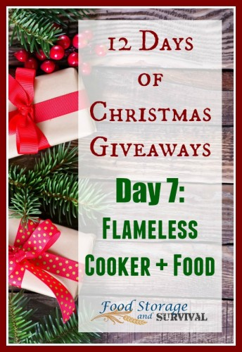 12 days of Christmas Giveaways Day 7: HydroHeat Flameless Cooker Package! Ends 12/9/15