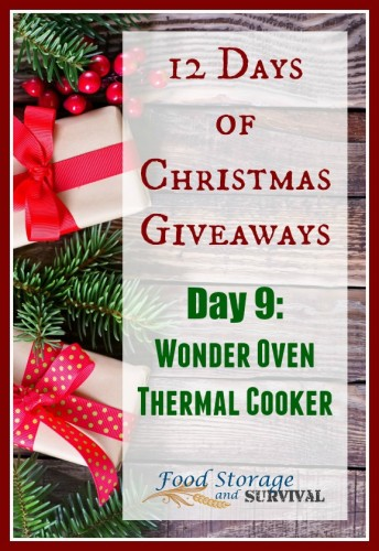 12 days of Christmas giveaways: Day 9- Wonder Oven Thermal Cooker! Ends 12/11/15