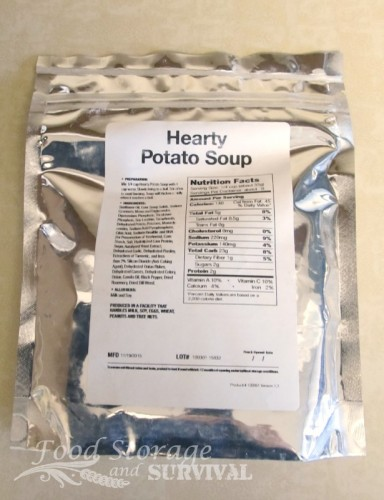 Food Storage Review: Hearty potato soup from The Storage Room