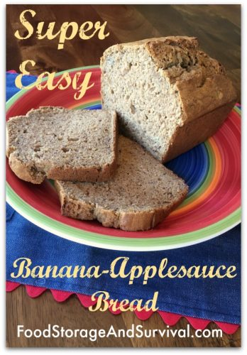 Super easy banana applesauce bread recipe! Slice for toast, this stuff is perfect!