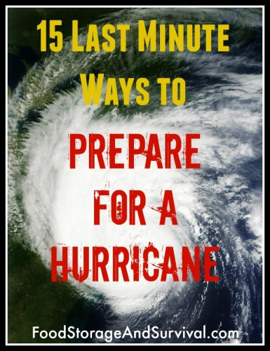 15 last minute ways to prepare for a hurricane