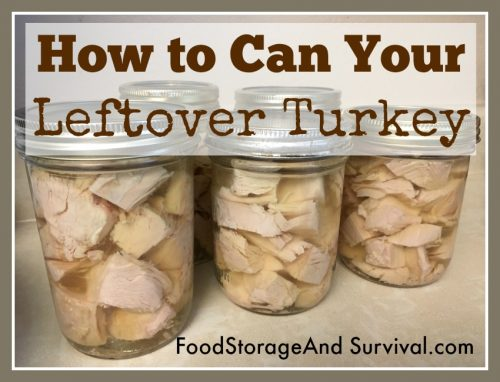 What to do with leftover turkey? Here's how to can it to use later!