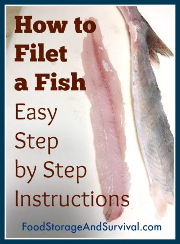 How to filet a fish. Easy step by step instructions!