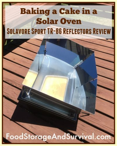 Baking a cake in a solar oven at 60 degrees! Review of solavore sport TR-86 reflector panels